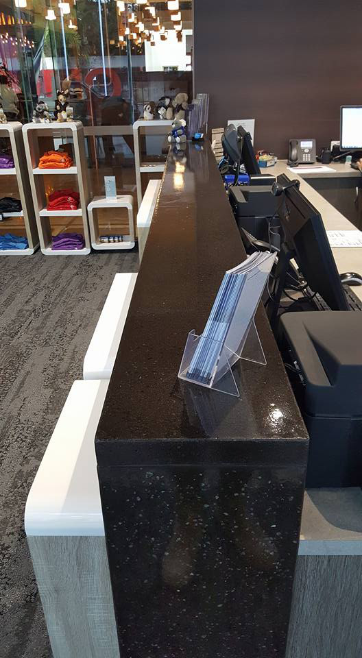 Concrete Counter top black cairns
