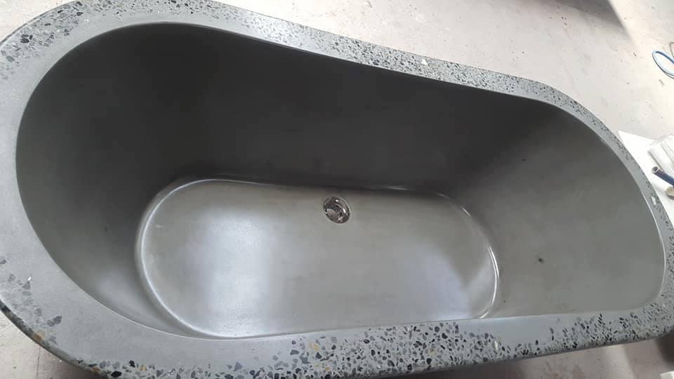 concrete bathtub handmade