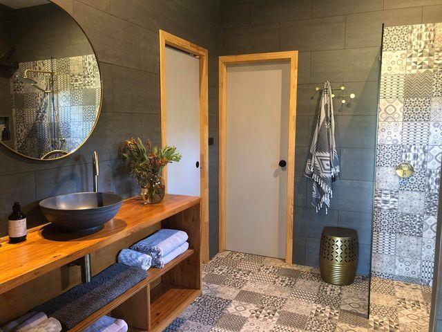 concrete hand basin wash basin bathroom