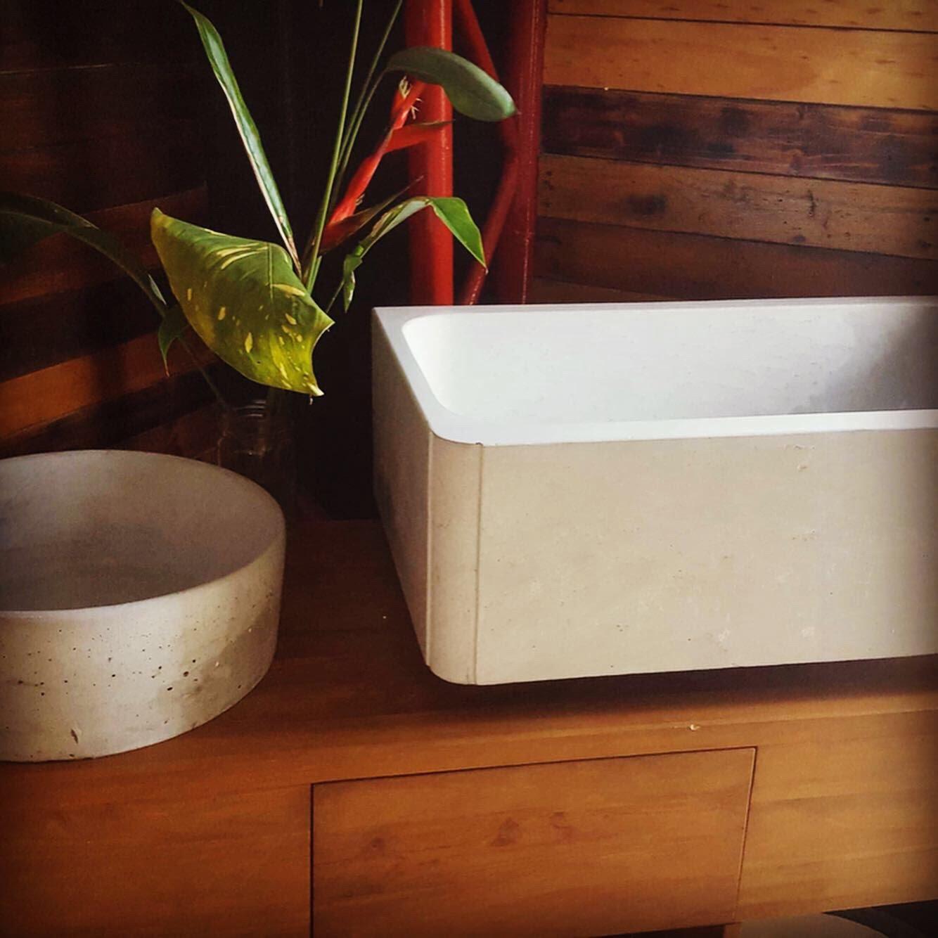 Concrete butler sink