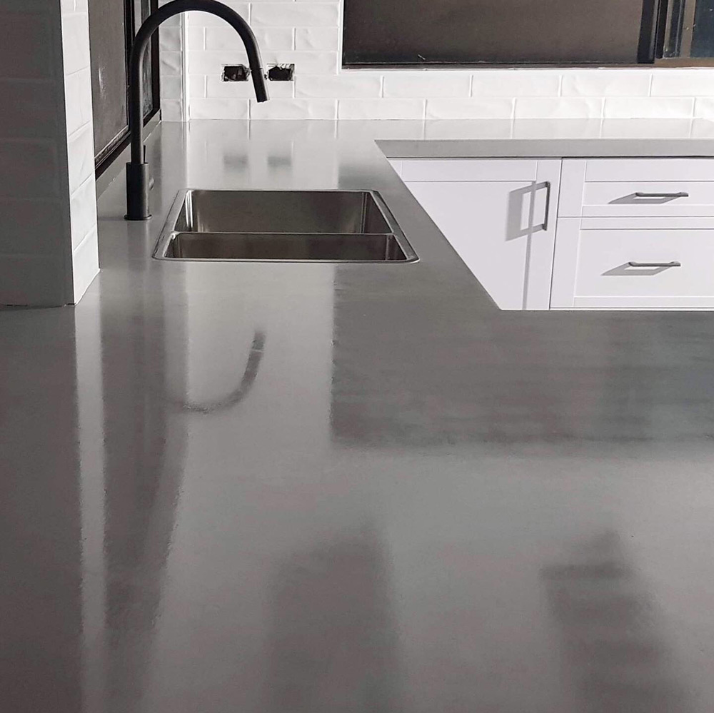 concrete benchtop counter cairns kitchen