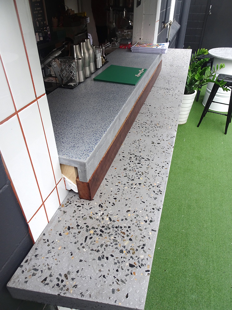 concrete bar counter top