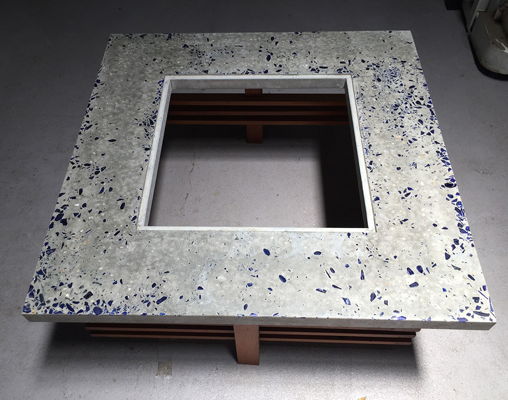 Concrete table square