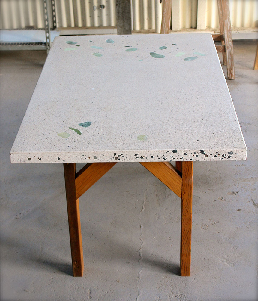 concrete dining table exposed gfrc