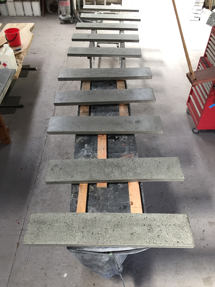 concrete stair treads floating