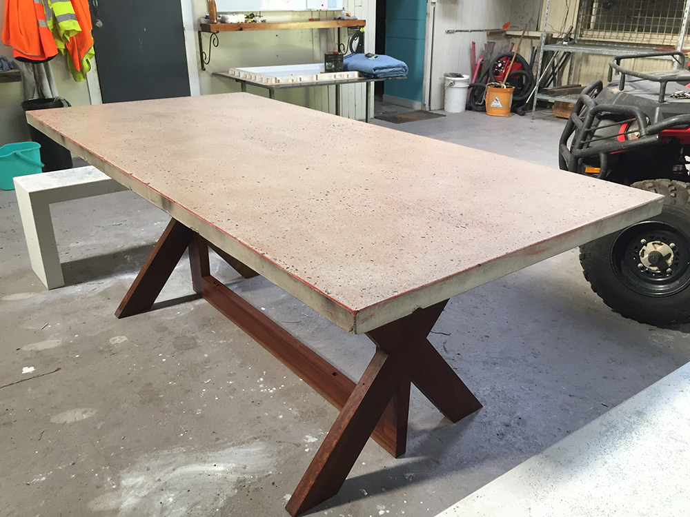 concrete table dining cairns