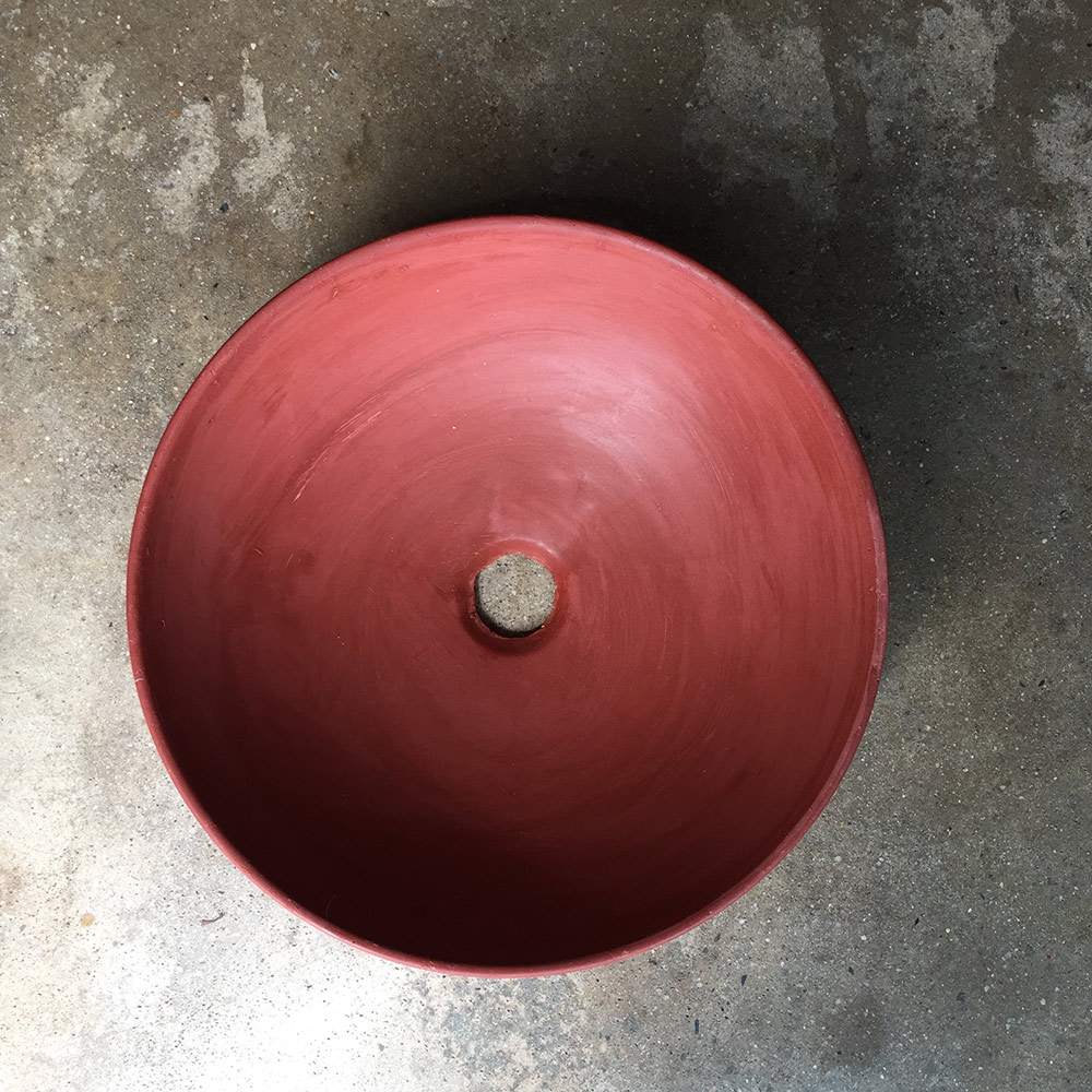 Round Bathroom Basin, Rustic, hand basin, concrete, red