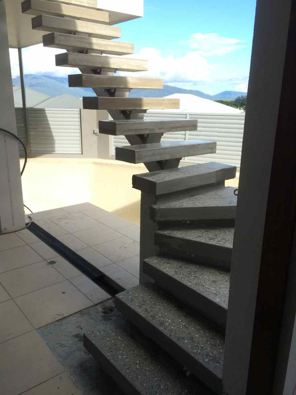 concrete stair treads floating cairns