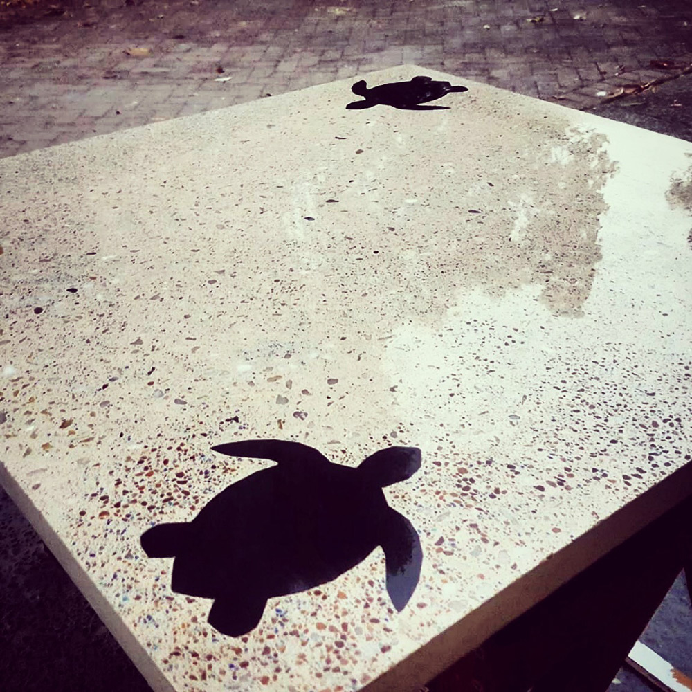 concrete table outdoor cairns