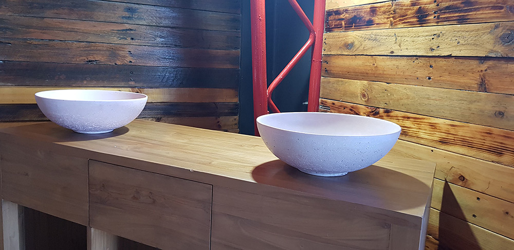 concrete hand basin, wash basin, bathroom basin, vanity bowl